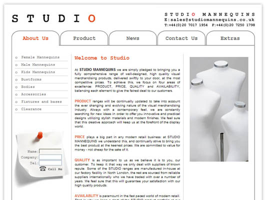 Studio Final Website