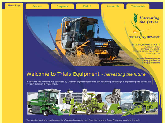Trials Equipment Website