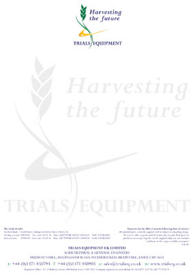 Trials Equipment stationary