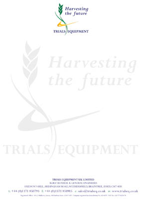 Trials Equipment letterhead