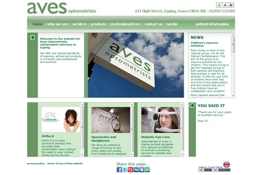 High Street Opticians AVES of Epping