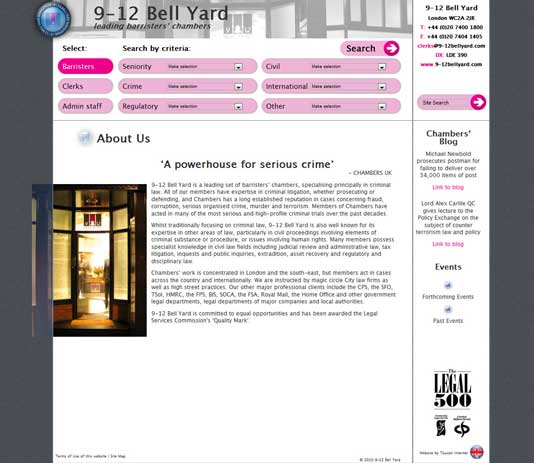 9-12 Bell Yard Main Website, About Chambers