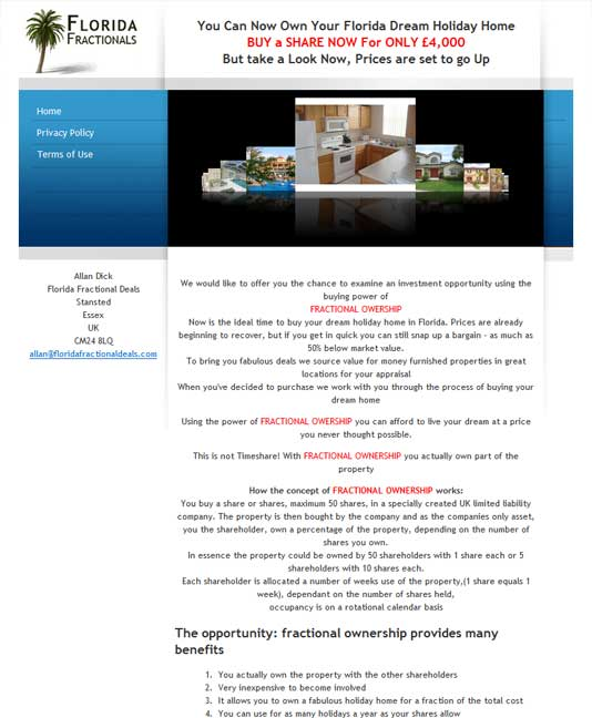 Flordia Fractional Property Deals