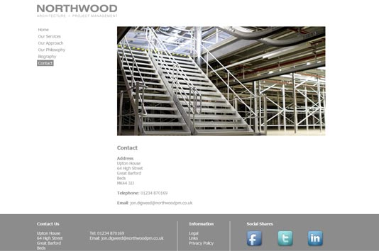 Northwood Project Management contact page