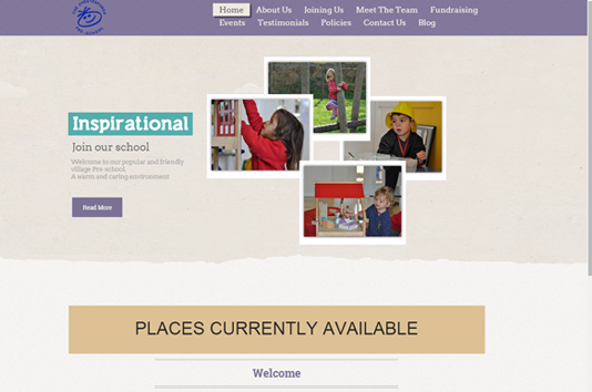 The Chesterfords Preschool website home page slider 1