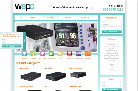 Worlds Smallest PC eCommerce Website